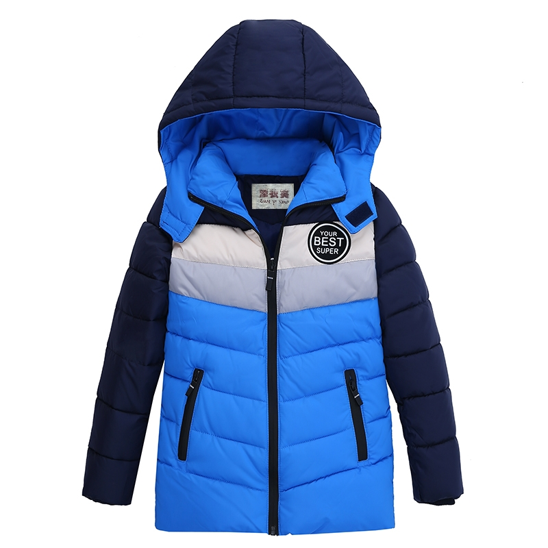 New Hot High Quality 2017 Winter Child Boy Down Jacket Parka Big Girl Warm Coat 4-10 Year Thick Hooded Outerwears