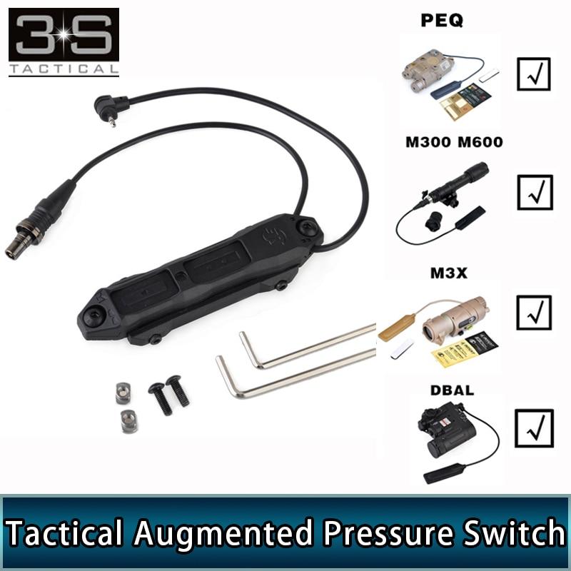 elemennt softair tatico pressao aumentada interruptor duplo arma de luz interruptor remoto para um peq 15
