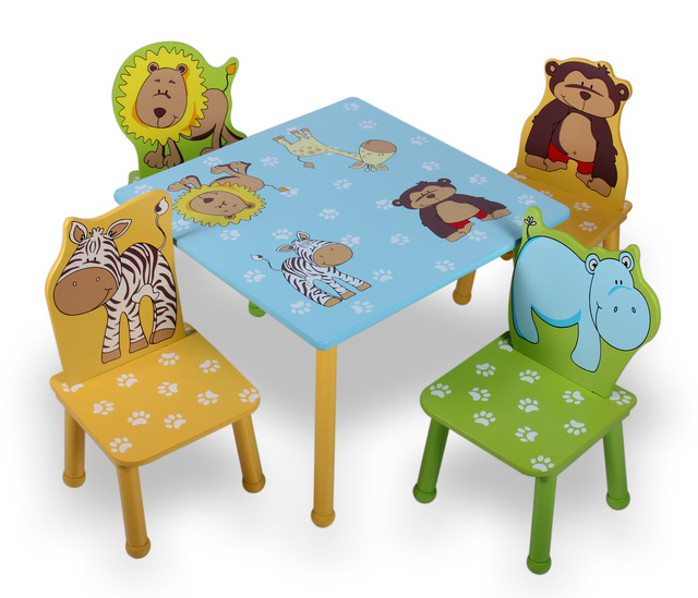 Solid Wood Childrens Table And Chairs Eastlake Rocking Chair Child Furniture Study Desk Bundle Combination Game Tables