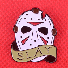 Jason-Mask Brooch Badge Demon-Pins Horror 80s The Gift Jewelry Slayer Friday 13th Retro