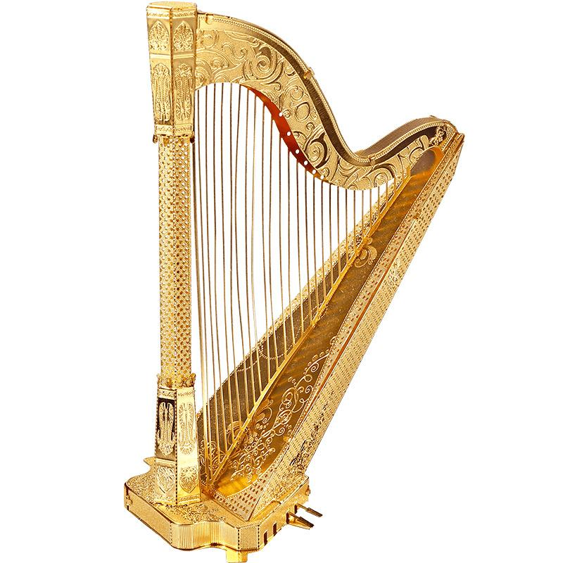 Piececool HARP Model Jigsaw Puzzle Metal Assembly Musical Instruments Originality Collection Of Gifts Funny Figure Toy Education