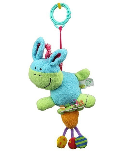 candice guo Hot Sale cute Donkey Shaking Bell Baby gift Plush Toy Rattle multifunctional Bed Hang 1pc