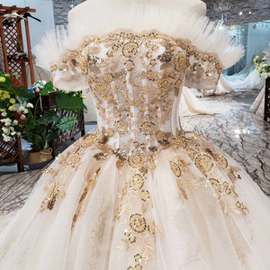 Image 5 - HTL323 Special sexy Wedding Dress with train off shoulder boat neck bridal dress gown free shipping mariage champetre