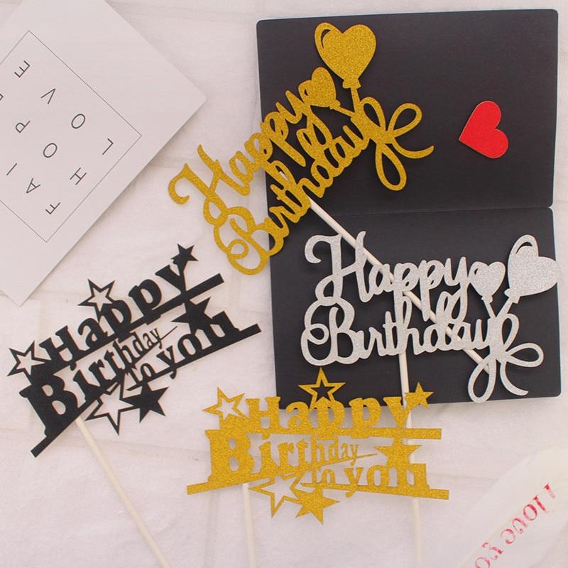 Топпер для торта «С Днем Рождения», первый день рождения, вечерние топы для мальчиков, Babyshower, аксессуары для выпечки, вечерние торты