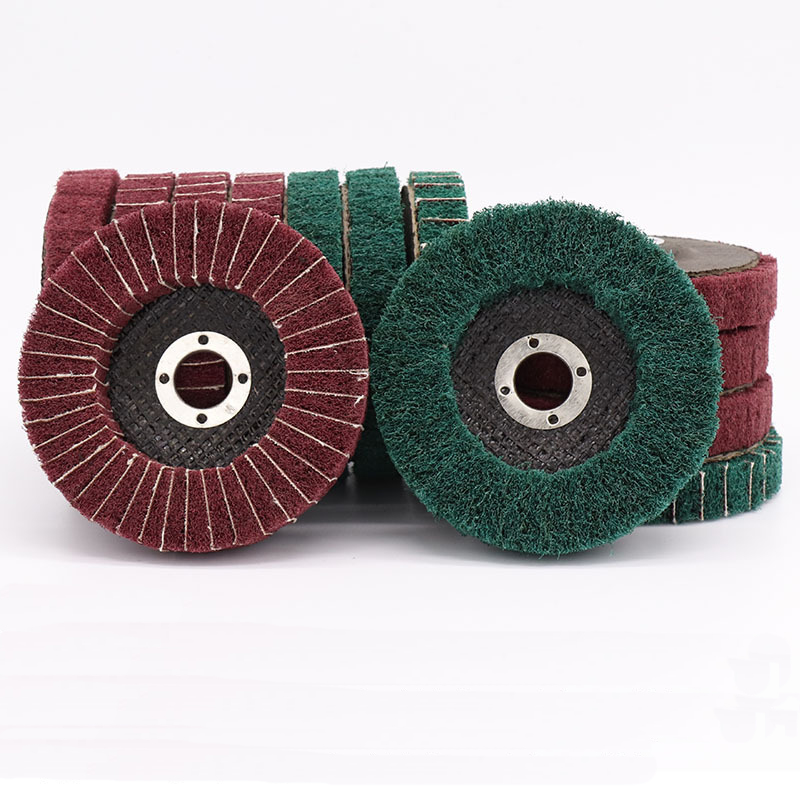 100mm Diameter Nylon Scouring Cloth Abrasive Wheel Brush For Cleaning Rust Removing Polishing Buffing Disc For Rotary Tool