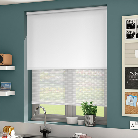 Window Blackout Sunscreen Dual Roller Blinds Shades H653 Pattern Priced 1pc 39