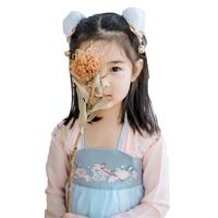 Kids Dance Costume Girls Hanfu Chinese Festival Outfit Oriental Performance Clothing Children Stage Dance Wear Folk Dress DC2360