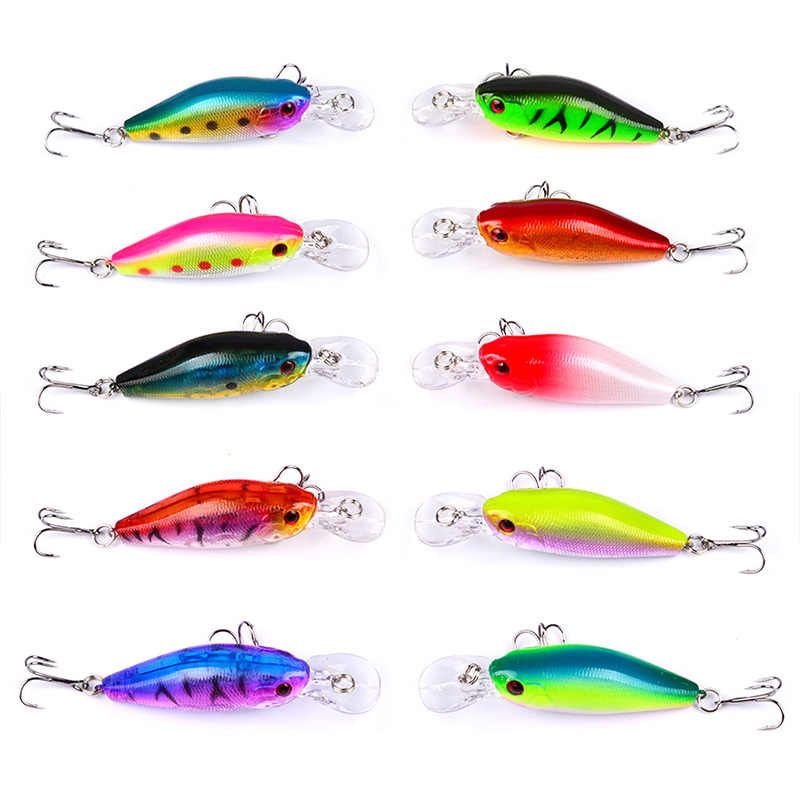 1Pcs 7cm 8g เหยื่อตกปลาดำน้ำความลึก 0.3-1.2m Lake River wobblers ปลาคาร์พ minnow เหยื่อตกปลาประดิษฐ์
