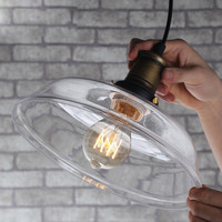 Industry & Business Commercial Lighting Clear Color ,Amber Color Vintage Glass Chandelier Lamp Edison Cord Light 110V 220V