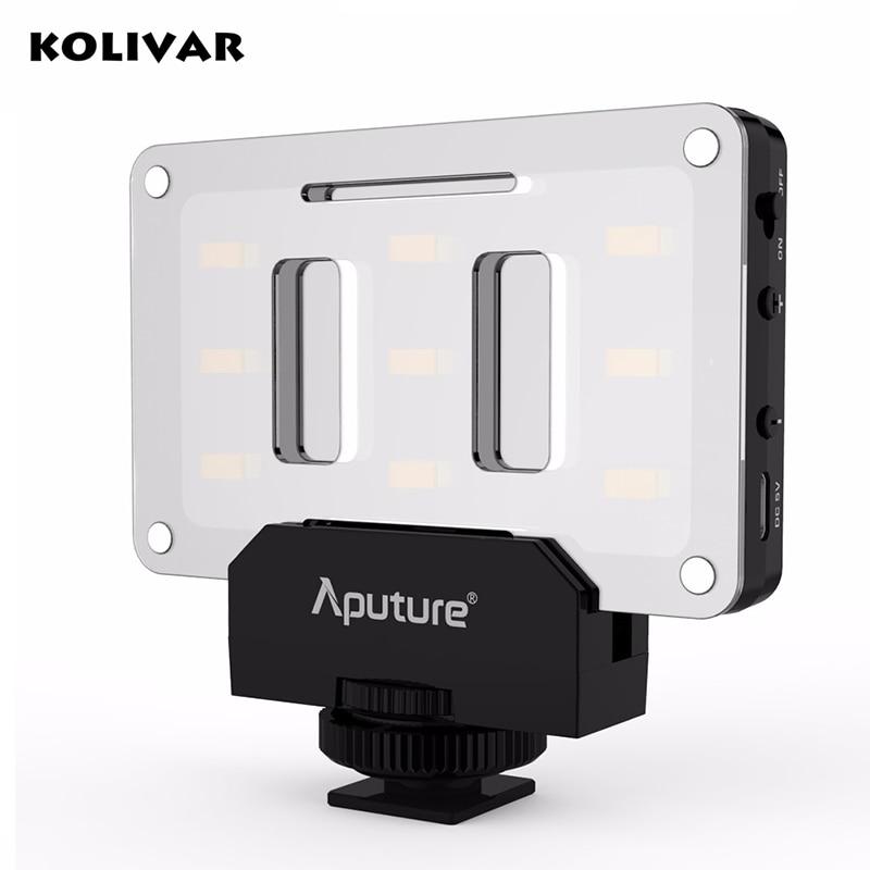 цена на KOLIVAR Aputure Amaran AL-M9 Pockable TLCI/CRI 95+ LED Video Light on-Camera Photography For Canon Nikon Sony DSLR Fill Lights