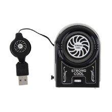 Мини Вакуумные USB Охладитель Воздуха Извлечение Вентилятор Охлаждения для Ноутбука Ноутбук Компьютерная Периферия Черный