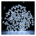 FSLH 33FT 10m 50 LED Solar Powered Fairy String Lights Waterproof for Outdoor, Gardens, Homes, Wedding, Christmas Party(White)