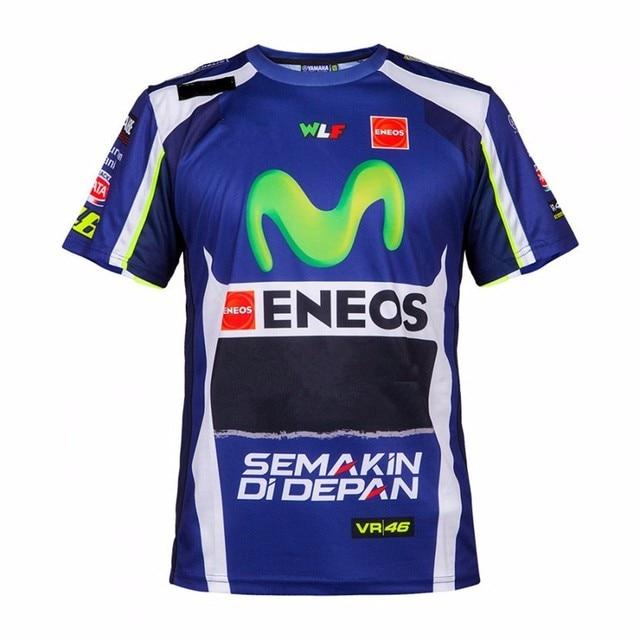 Los hombres de moda de ocio y deportes bike riding motorcycle wicking Camiseta para YAMAHA Valentino Rossi VR46 camiseta 46 el médico