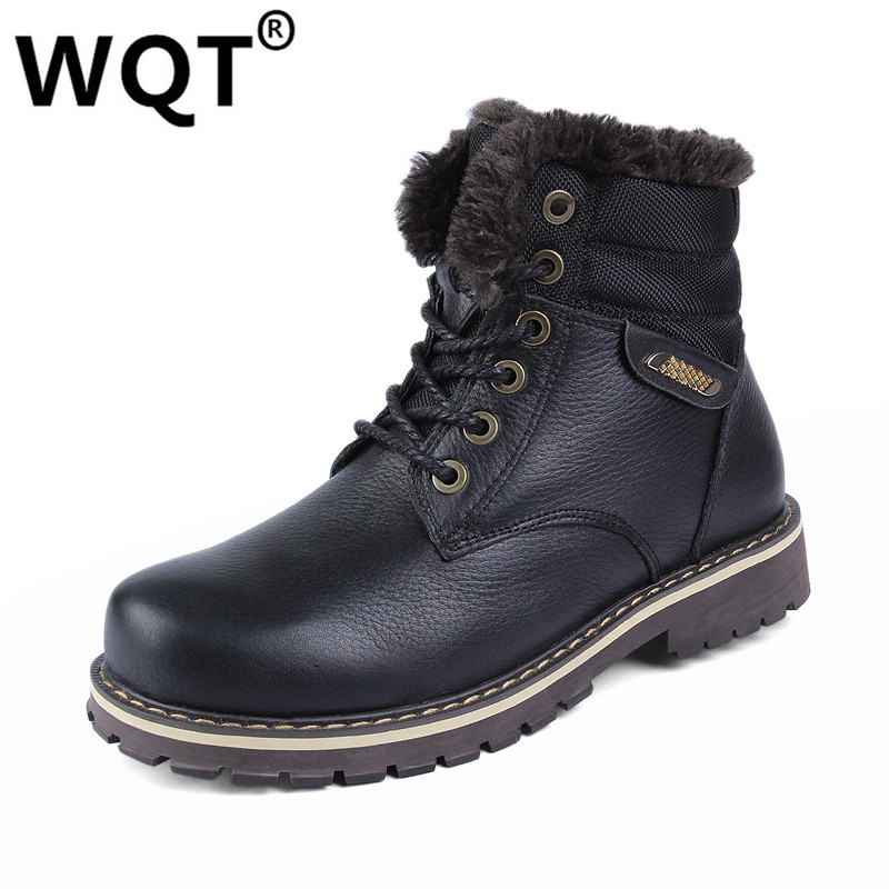 Mens Shoes Warm Fur Boots Men Casual Shoes Male Genuine Leather Zapatos Winter Snow Boots Zapatillas Hombre Plus Size 38-50 autumn leather mens outdoor men canvas shoes mens casual shoes lace up mens men trainers zapatillas zapatos hombre