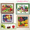 Needlework DIY DMC Cross Stitch Sets For Embroidery Kit Fruits Fruits Apple Cherry Strawberry Counted Or
