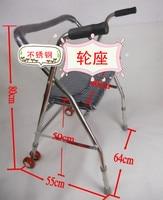 10 Off Portable Light Weight Stainless Steel Wheel Walker Adjustable Walker