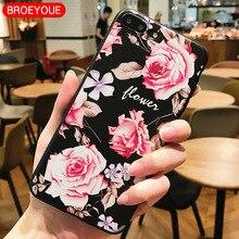 BROEYOUE Case For Xiaomi Redmi 4A 4X 5A 5 Plus Note 4 Mi A1 5X Relief Silicone iPhone 5S SE 6 6S 7 8 X