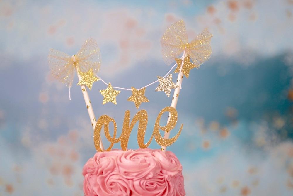 One Cake Topper, First birthday cake topper, ONE Smash Cake Set, star cake topper, twinkle little star cake topper