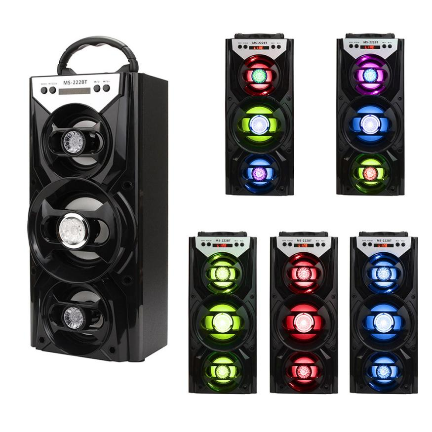 ФОТО hot selling 5 colors  Multimedia Bluetooth Wireless Portable Speaker Super Bass with USB/TF/AUX/FM Radio just for you