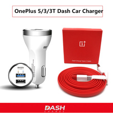 Oneplus 5T Car Charger , Dash Charge For One plus 3 3T 5 ,Dual Usb Quick Fast Charging and Original 100/150CM Type-C cable