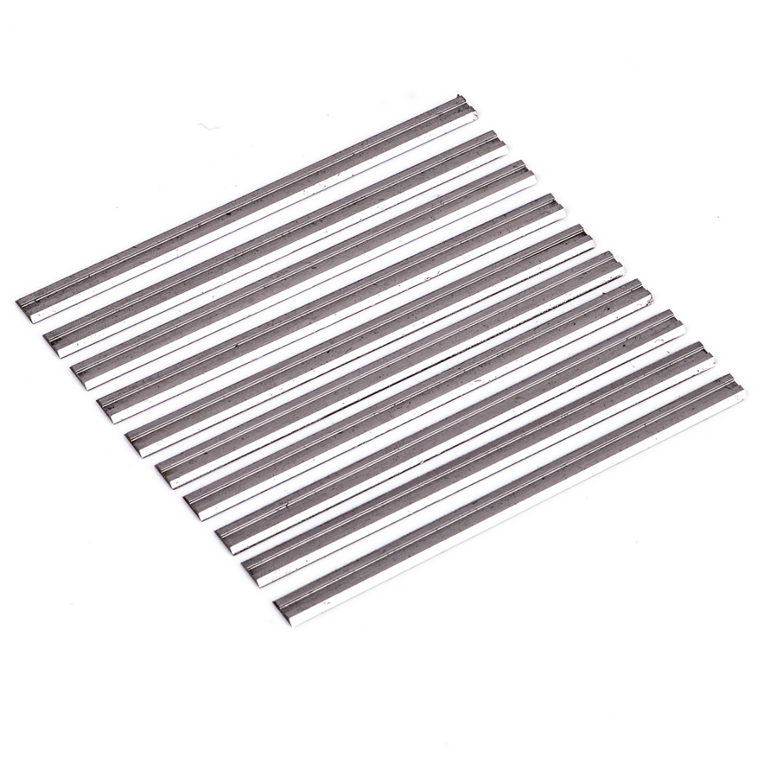 10Pcs Reversible Carbide Planer Blades 82mm X 5.5mm For Soft Hard Woods Cutting Mayitr Woodworking Machinery Power Tool Parts