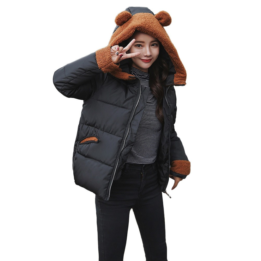 ISHOWTIENDA New Women Winter Warm Camouflage Coat Faux Fur Hooded Thick Slim Jacket Overcoat Manteau Femme Hiver 2018 Jacket