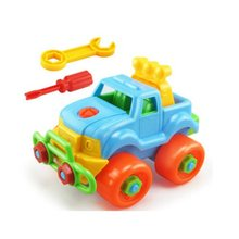 Montessori Childrens nut combination Nut screw disassembly assembly baby Diy plastic toy car