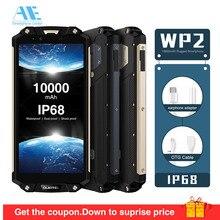 OUKITEL WP2 IP68 Su Geçirmez Toz Şok Dayanıklı 10000 mAh Cep Telefonu 4 GB 64 GB MT6750T Octa Çekirdek 6.0