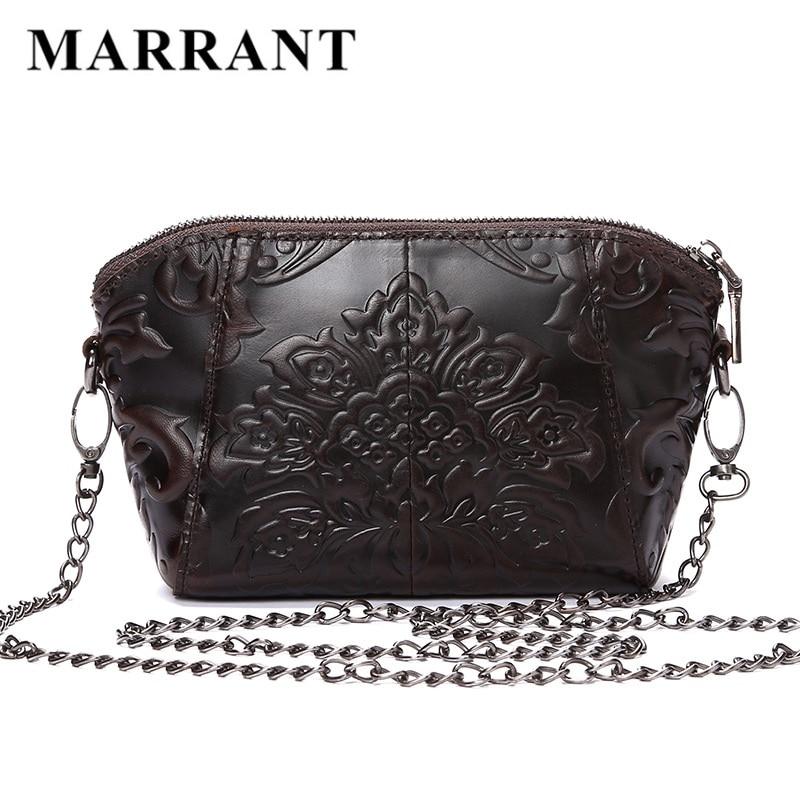Luxury Brand Women Vintage Retro Design Messenger font b Bag b font Genuine Leather Female Embossed