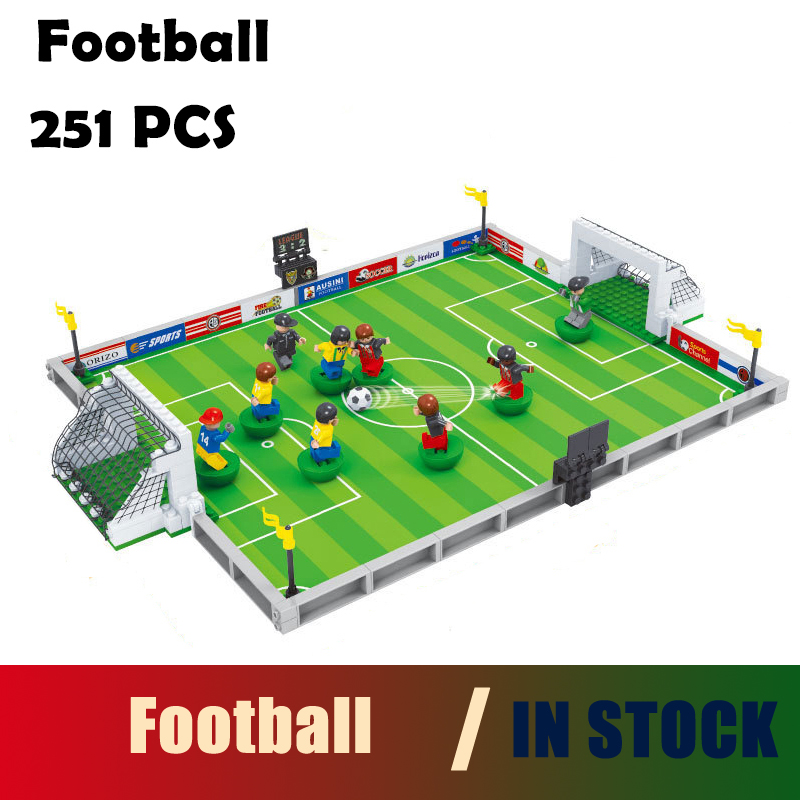 compatible with lego city Model building kits football 200 3D blocks Educational model & building toys hobbies for children 251pcs model building kits compatible with legoing city football 3d building blocks bricks educational toys hobbies for children