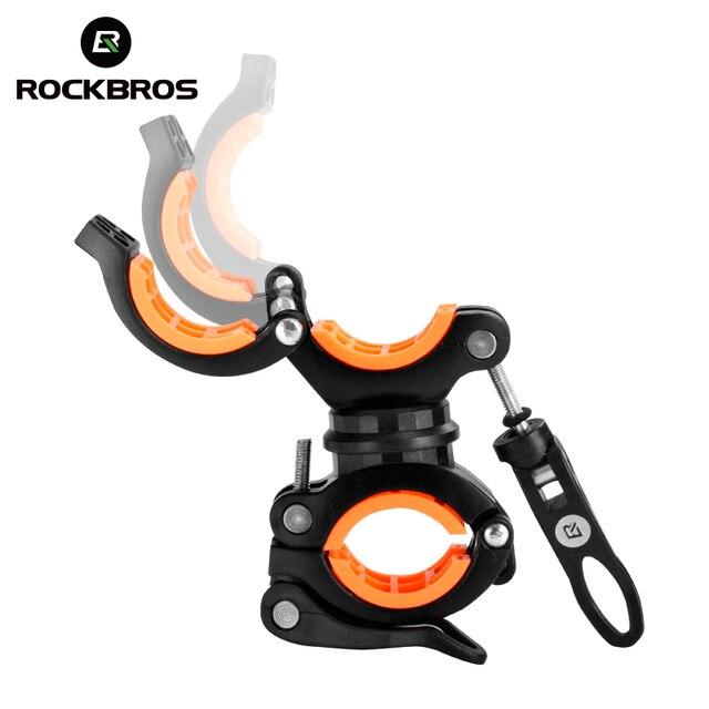 ROCKBROS Велоспорт велосипед вращающийся свет двойной держатель светодиодный фара насос держатель руля Аксессуары для велосипеда