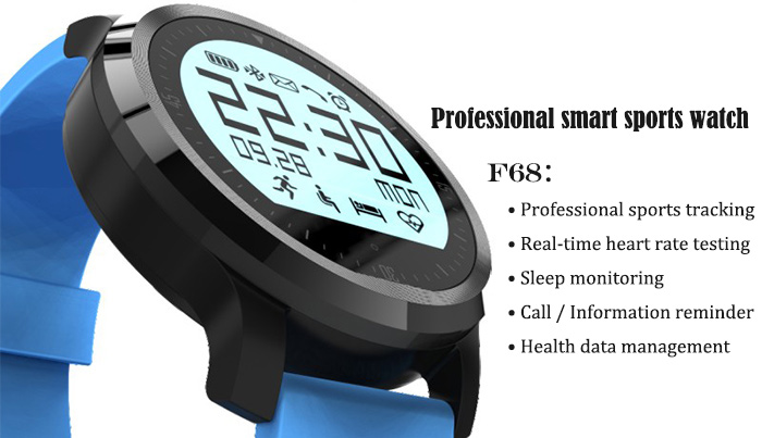 F68 Bluetooth 4.0 Sport Smart Watch Heart Rate Track Wristwatch 1.5 Inch Touch Screen Waterproof IP67 Watch For IOS Android (12)