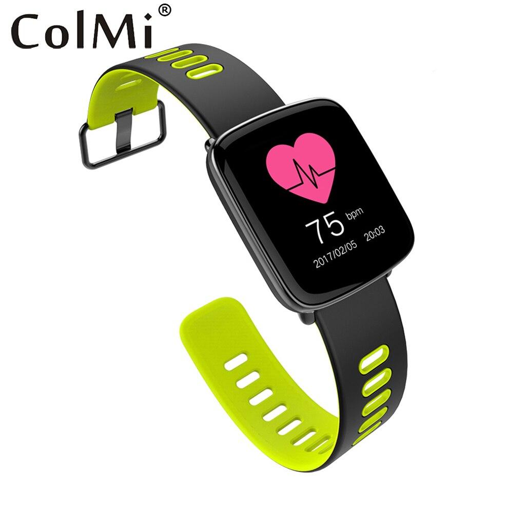 ColMi GV68 плюс Смарт-часы Для мужчин Для женщин IP68 Водонепроницаемый MTK2502 SmartWatch Носимых устройств сердечного ритма Тесты для iPhone, Android