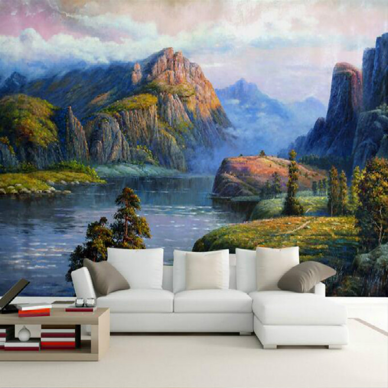 picture quality retro motorcycle painting art large murals