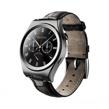 2016 New Fullly Rounded Smart Watch Heart Rate Monitor Wearable Devices Bluetooth Leather Smartwatch For ISO Android OS PK KW18