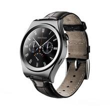 2016 neue Satt Abgerundete Smart Uhr Pulsuhr Tragbare Geräte Bluetooth Leder Smartwatch Für ISO Android OS PK KW18