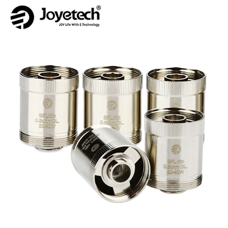Original Electronic CIgarette BFL Coil 5pcs Joyetech BFL Kth DL Head 0.5ohm Coil for UNIMAX 22/25 Tank Atomizer Rated 20-40W