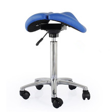 Comfortable Adjustable Saddle Stool Seat Furniture Ergonomic Medical Office Saddle Chair Rolling Swivel Chair for Home or Dental modern adjustable swivel salon massage spa seat tattoo medical chair stool leather seat and back massage swivel chair furniture