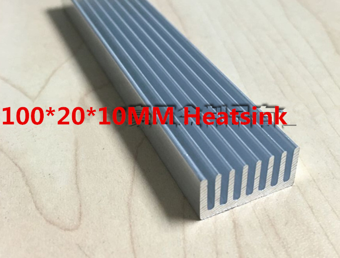 High quality heat sink 100*20*10MM Electronic radiator mos tube Thermal conductivity Heat dissipation Aluminum Strips professional 7005 aluminum alloy tube clap long track ice blade 64hrc high quality dislocation skate shoes knife 1 1mm frame