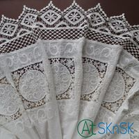 Lace 2016 New Bilateral symmetry off white cotton openwork embroidery lace fabric skin friendly soft summer dress lace fabric SK