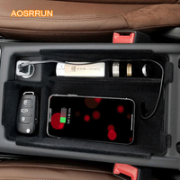 AOSRRUN Special on board QI wireless phone charging panel Car Accessories COVER For AUDI A4 A4L 2017 2018 A5 2017 2018