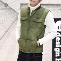 Men S Solid Color Vest Winter Men Jacket Sleeveless Casual Male Female Camo Waistcoat Slim Fit