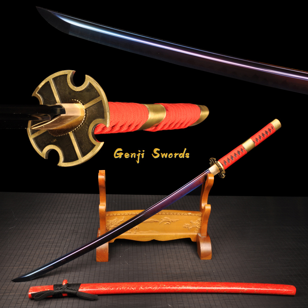 Japanese Tanto Hand Crafted Forged Purple Blade Carbon Steel sharp Wakizashi JP