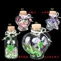 65ml/40ml/250ml/650ml four-leaved clove glass bottle with cork wishing bottle luck drift bottle Creative Decorative Vials