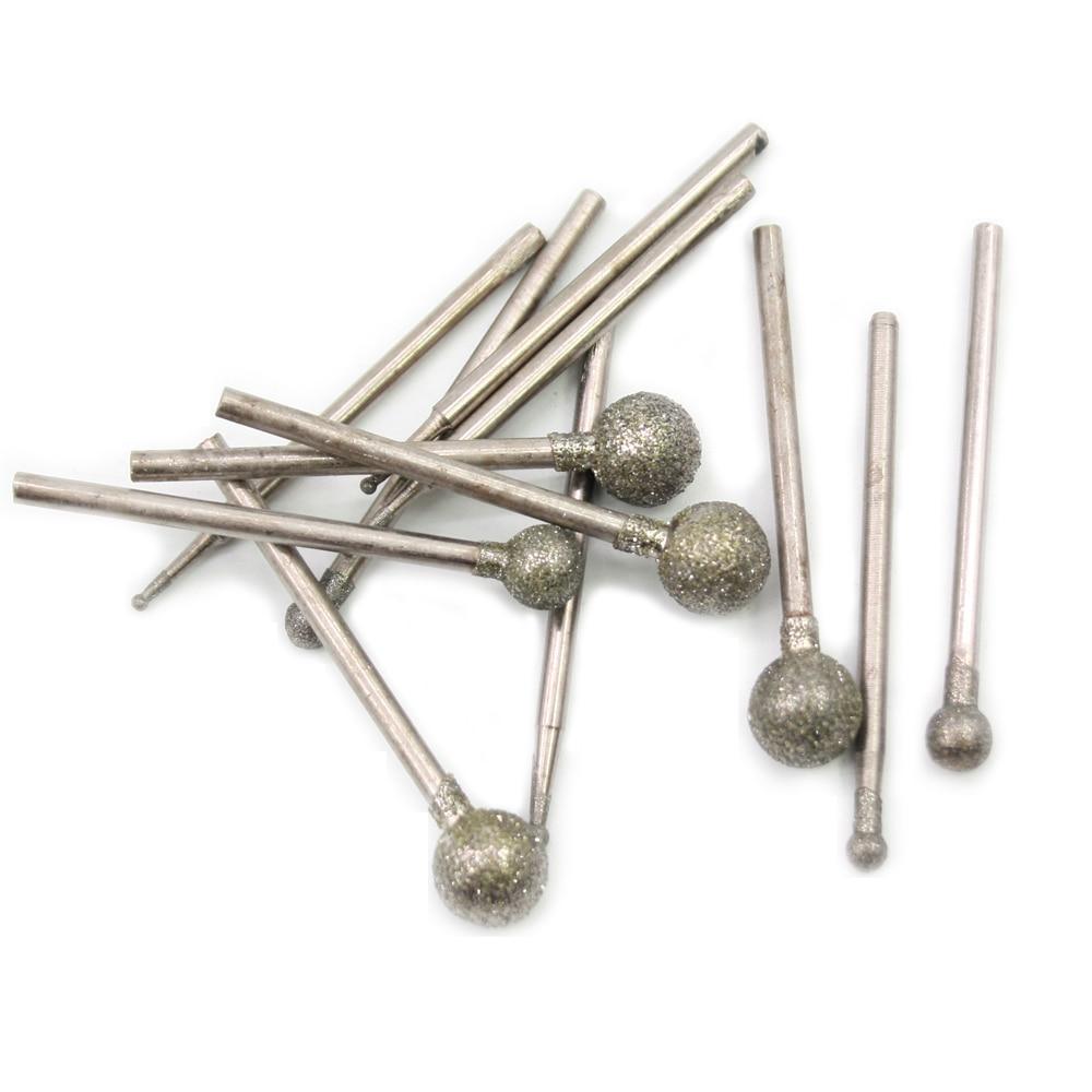 Punte da 2,35 mm Punte abrasive diamantate a forma di sfera di medio - Abrasivi - Fotografia 6