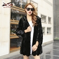 New Luxury mink fur winter real mink fur coat women natrual pieces of mink fur jacket women fashion warm overcoat