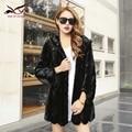 Nuevo invierno de piel de visón visón real abrigo de pieles de Lujo de las mujeres natrual piezas de chaqueta de piel de visón mujer moda abrigo cálido