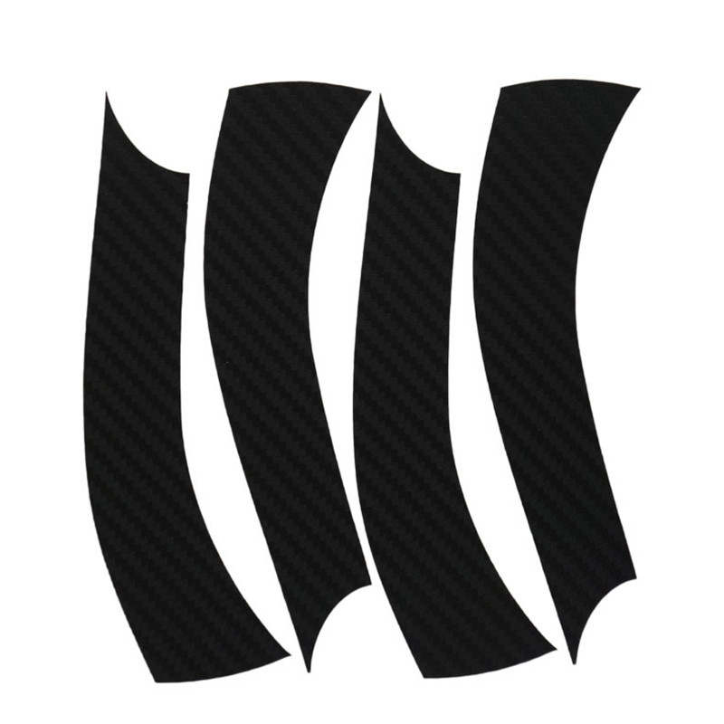 Savanini Car-Styling 1set 15 Inches Carbon Fiber Wing Wheels Mask Decal Sticker Trim For Mazda 3 A Style