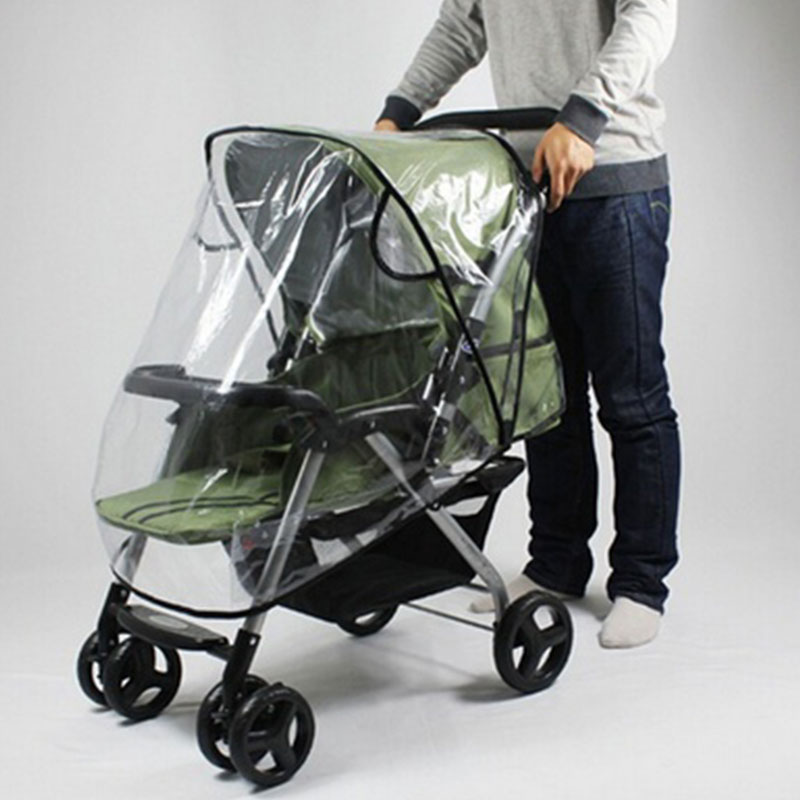Baby Universal Waterproof Stroller Rain Cover Wind Dust Shield Pushchair Cover Baby Pushchair Cover Transparent And Black avoid the ultraviolet radiation with the canopy pushchair baby build a safe soft environment for babies boys and girls pushchair