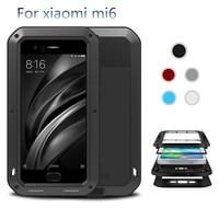 2017 Xiaomi Mi6 Case LOVE MEI Dirt Shock Life Waterproof Metal Aluminum Cell Phone Case For